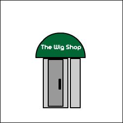 wig shop logo